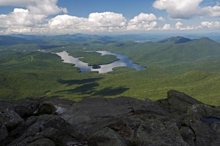 View of Lake Placid from Whiteface Mountain - Wilmington