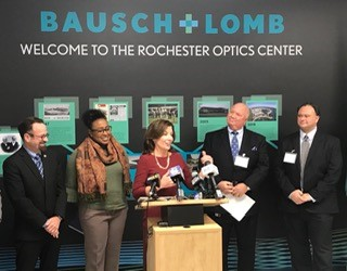 An announcement of Bausch and Lomb's expansion in Rochester