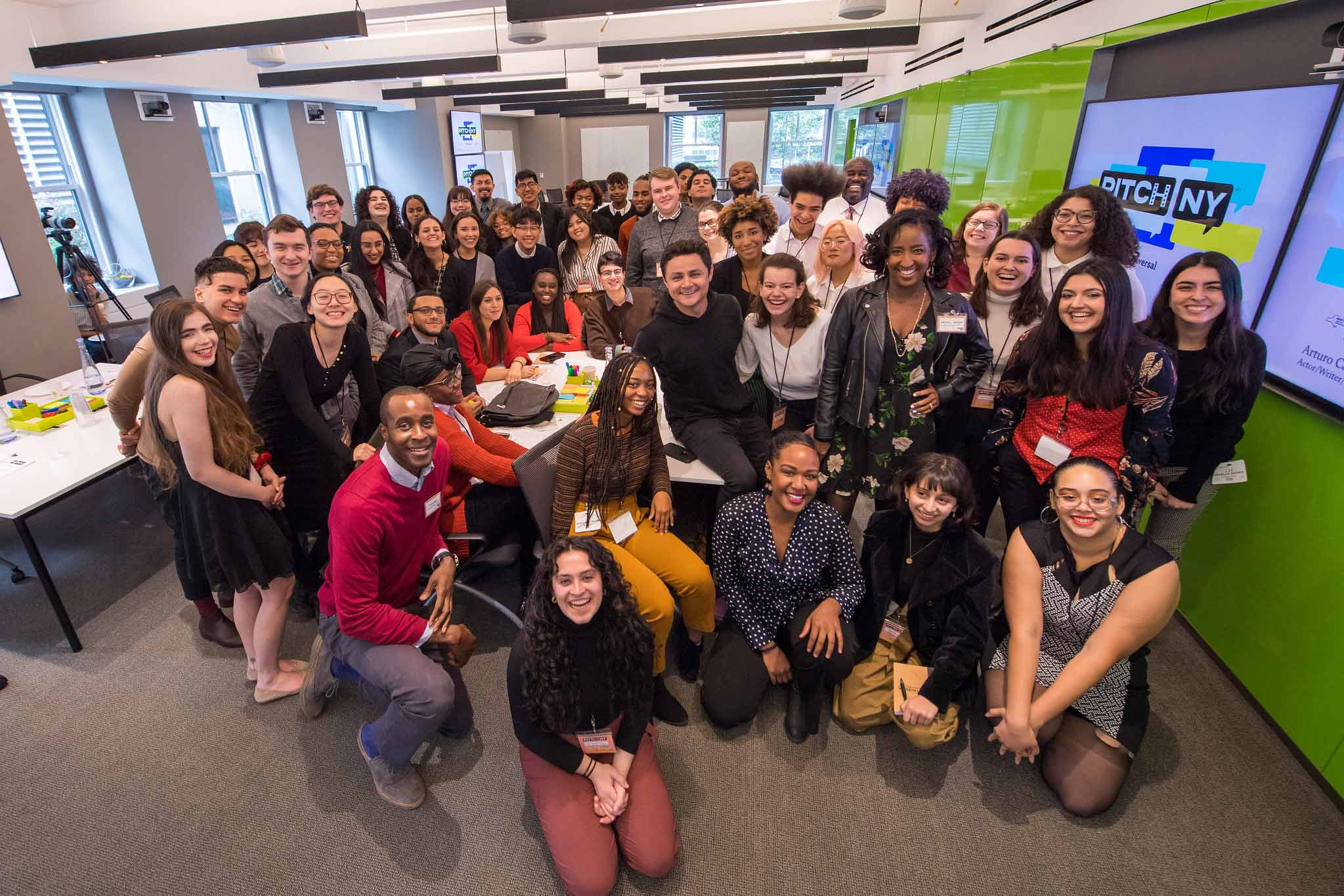 Participants and entertainment experts gather together at PITCHNY2019