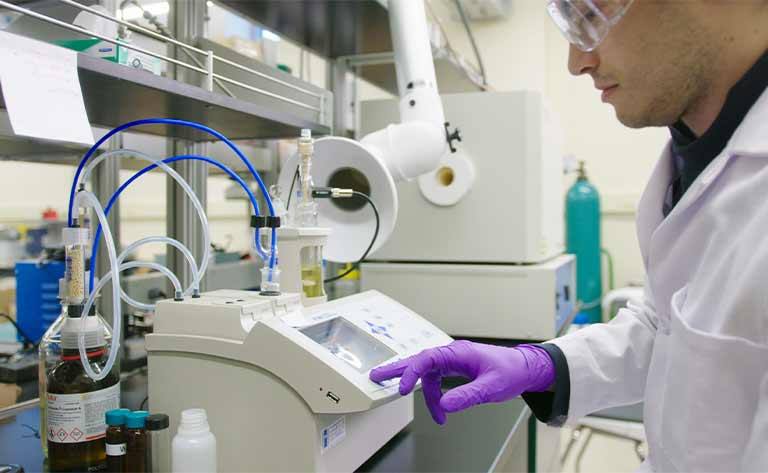 A worker in a lab