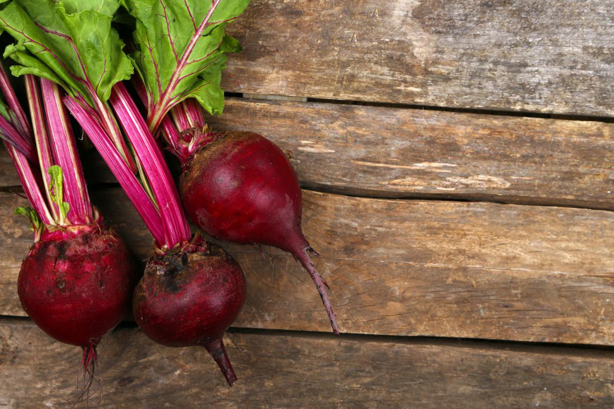 Beets from Rochester-based Love Beets on wood table