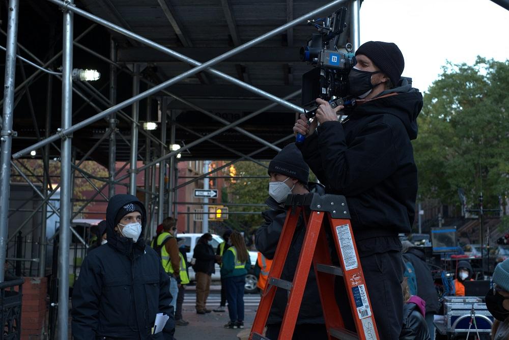 Crew on film set