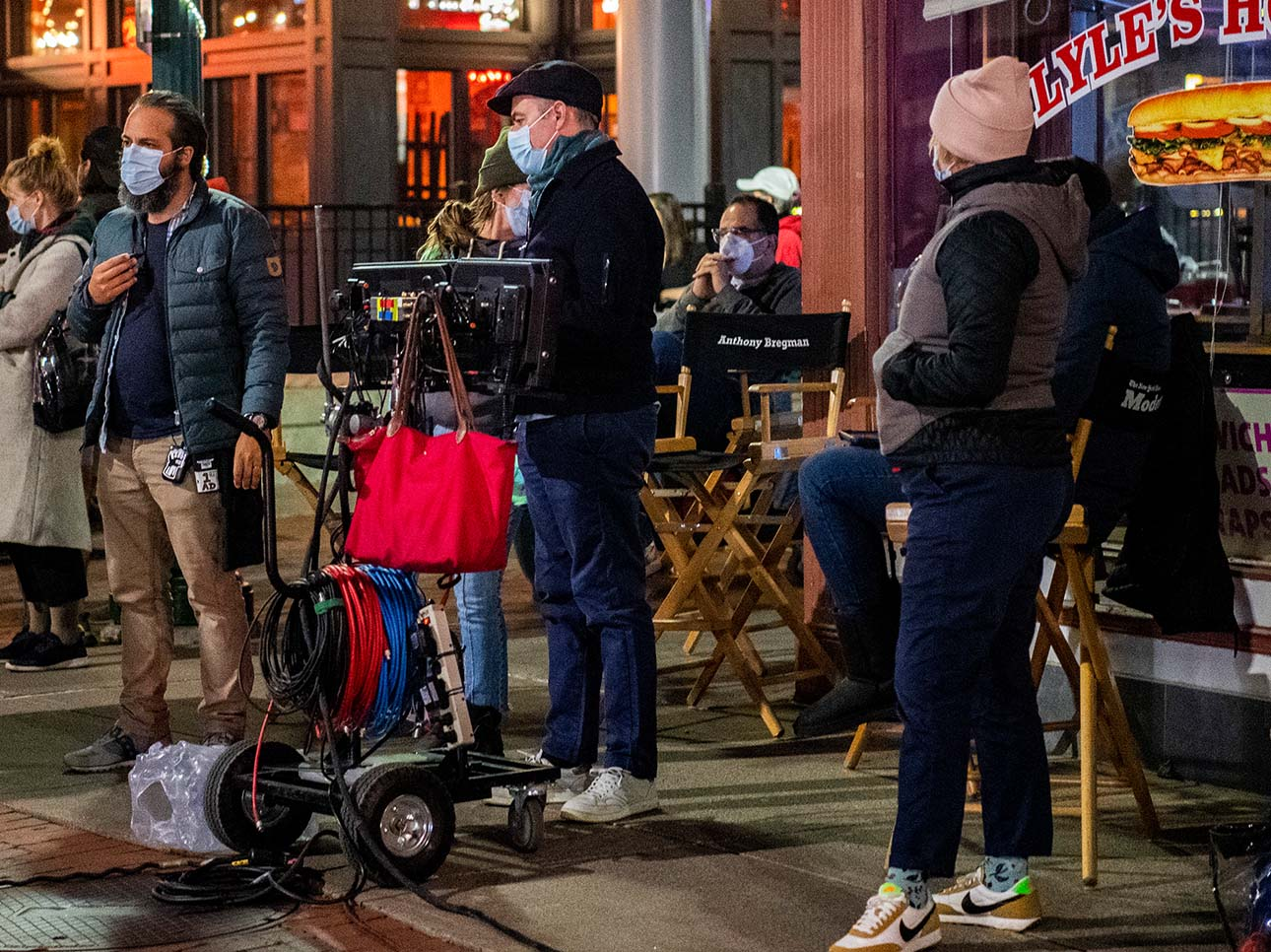 Crew from Modern Love on set in Capital District