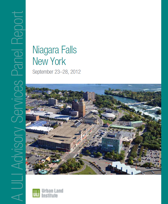 The cover of a 2012 Urban Land Institute Advisory Services Panel Report on Niagara Falls