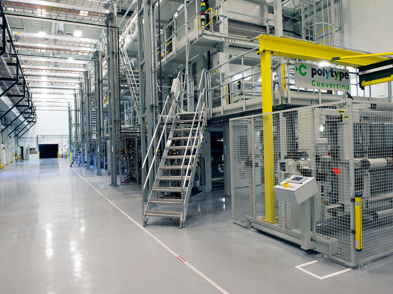 Interior of an industrial manufacturing facility