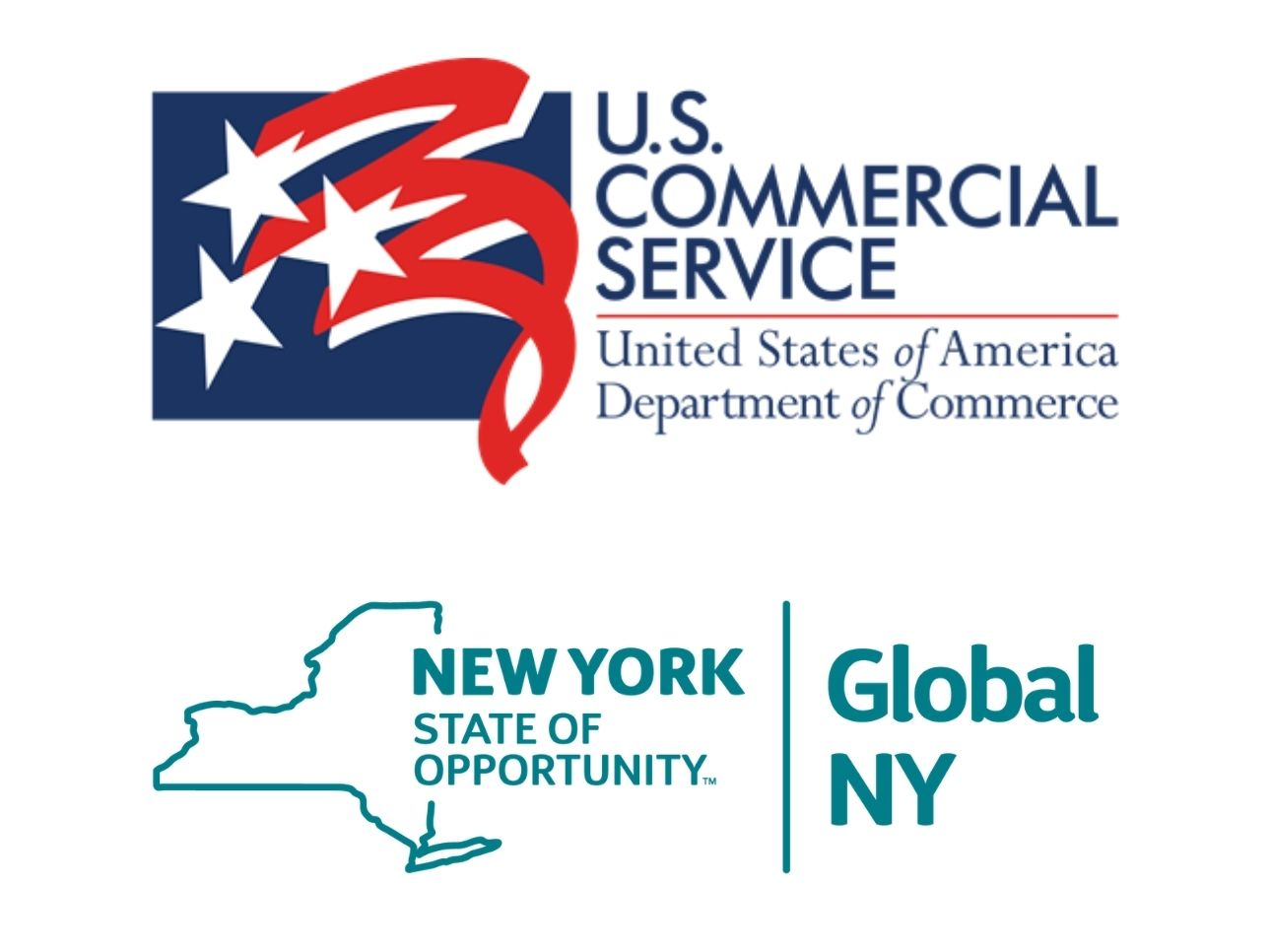 USDOC Commercial Service Offices logo and Global NY logo