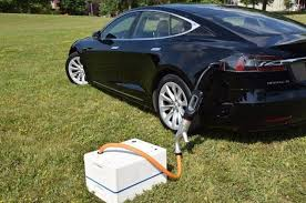 SparkCharge's portable electric vehicle charging unit.